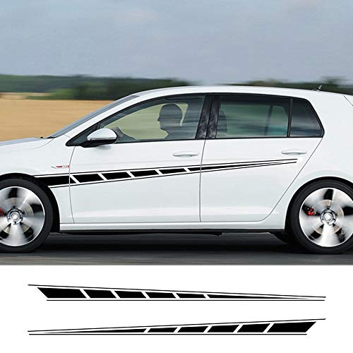 LEIDADA Car Door Side Decor Stripes Skirt Decals Wraps Body Stickers Graphics, for VW GTI MK7 MK5 MK6 MK4