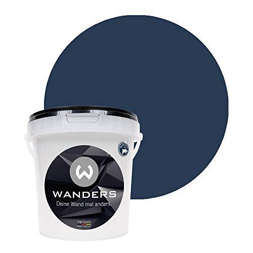 Wanders24® Tafelfarbe (1Liter, Mitternachtsblau) Blackboard Paint - Tafellack - abwischbare Wandfarbe - in 20 Farbtönen erhältlich - Made in Germany