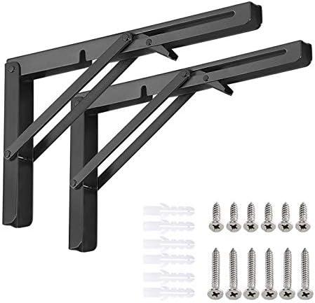 Folding Shelf Brackets Heavy Duty Metal Triangle Shelf Bracket DIY Wall Mounted Shelf Bracket product image
