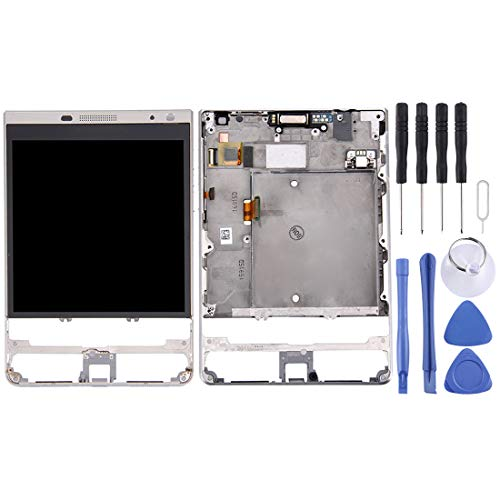 LIUDSBFQINGR Smartphone-Ersatzteil LCD-Bildschirm und Digitizer Vollmontage mit Rahmen für BlackBerry Passport Silver Edition