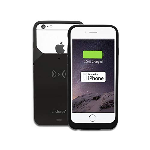 aircharge MFI Qi iPhone 6s/6 Funda de carga inalámbrica, color negro