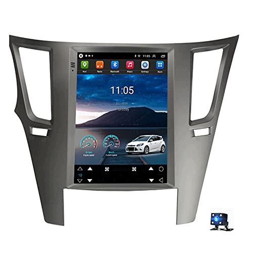 Android 10.0 Car Stereo Sat Nav Radio Reproductor de video multimedia con pantalla táctil para Subaru Outback 4 BR Legacy 5 2009-2014 Soporte Bluetooth USB WIFI (Size:cuatro nucleos,Color:WiFi 1G+16G)