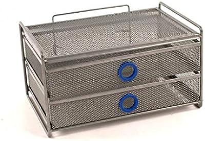 Amazon Com Design Ideas Digit Desk Unit 2 Drawer Wide Sapphire Home Kitchen