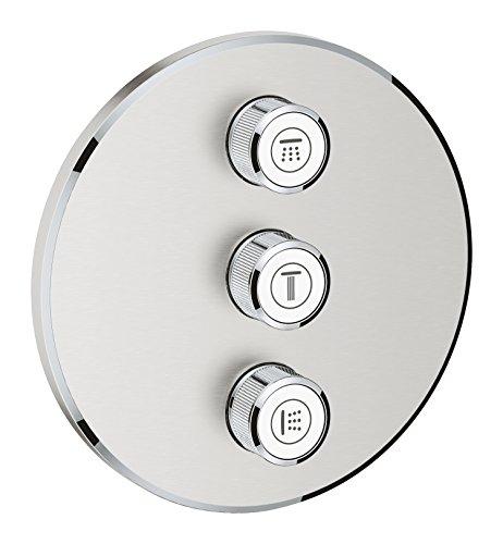 Grohe 29122DC0 29122DC0-Grohtherm SmartControl Placa con Triple Llave de Paso, Supersteel