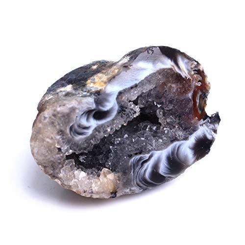 NBKLSD 1PC Neue natürliche Achat-Kristall poliert Unregelmäßige Cluster Quarz-Edelstein Füllhorn Anhänger Specimen Hochzeit Dekor (Color : Small 1pc)