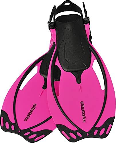 AQUAZON Sidney Pinne da Bambino, Pinne da Sub Regolabili, Ideali per Lo Snorkeling, Le Immersioni o Come Pinne da Nuoto o Snorkeling, Colour:Pink, Size:32/37