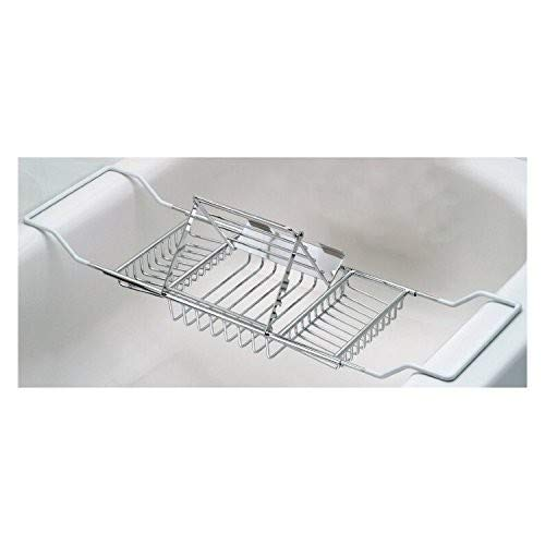 Useful. It's Stainless Steel Bathtub Caddy with Extending Sides and Book Holder