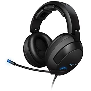 Roccat Kave Solid - Auriculares Gaming de Diadema Cerrados (con micrófono, Control Remoto Integrado, USB), Negro (B00275C2L6) | Amazon price tracker / tracking, Amazon price history charts, Amazon price watches, Amazon price drop alerts
