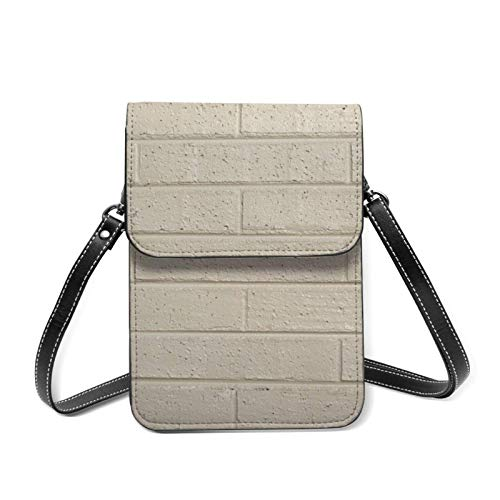 IUBBKI Universal Lightweight Leather Phone Purse, Color Brick Small Crossbody Bag Cell Phone Pouch Shoulder Bag