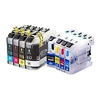 LC117/115-4PK ブラザー互換インクカートリッジ brother LC115/117シリーズ 4色セット+4色洗浄液 インクファクトリー