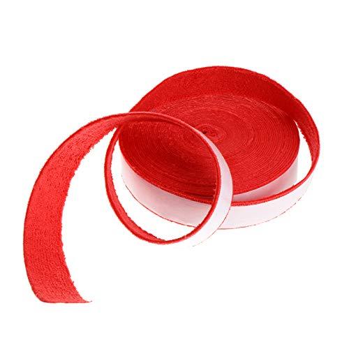 BESPORTBLE Tennisschläger Overgrips Racquetball Griffband Schläger Schweißband für Badminton Tennis Squash Griff Griff Schweißband Ersatz (Rot)