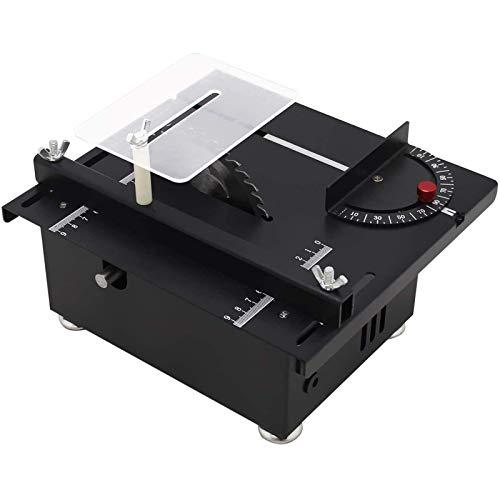 Mini sierras de mesa de precisión, sierra de mesa compacta portátil,Eléctrica Multifunciona,Herramienta...