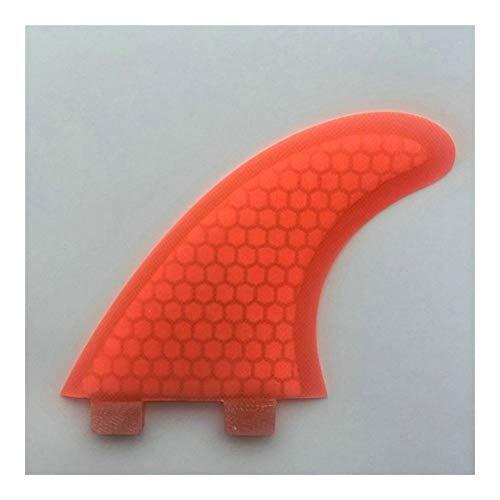 WULE-RYP Las Aletas de Surf Base de Fibra de Vidrio Tabla de Surf Fin Conjunto de Nido de Abeja Tabla de Surf Propulsor Aletas Deportes acuáticos (Color : Red)