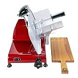 Berkel Red Line 250- Affettatrice professionale con lama da 250 mm, colore: Rosso + 34x21 Barrel tavola di legno