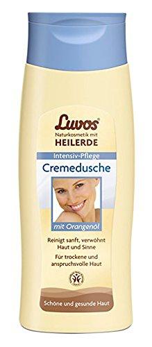 Milde Luvos Cremedusche mit Orangenöl Pflege-Set 2x200ml. Duscherlebnis für trockene und anspruchsvolle Haut