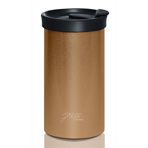 PRESSE by Bobble French Coffee Press And Insulated Stainless Steel Travel Tumbler for On-The-Go Brewing - 13 oz