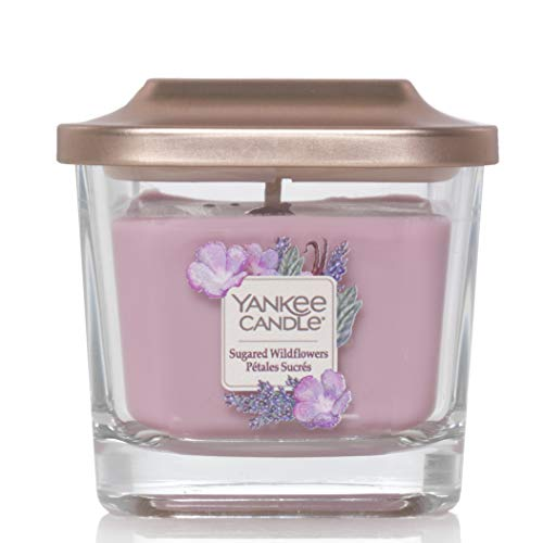 Yankee Candle Small 1-Wick Scented Candle | Sugared Wildflowers | Up to 28 Hours Burn Time | Elevation Collection with Platform Lid
