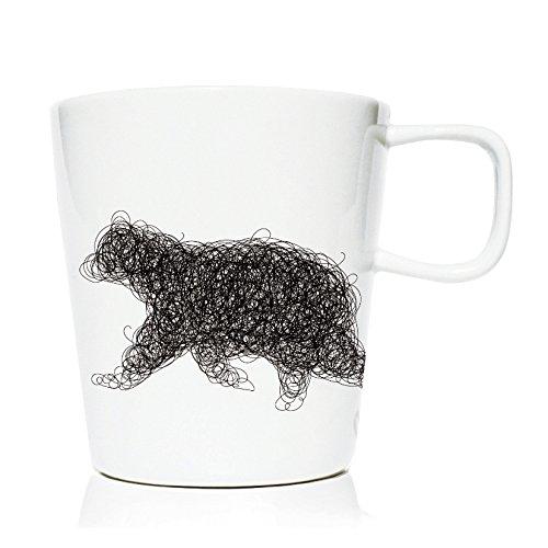 We Love Home - Tasse Mug en Porcelaine 20 cl. Style scandinave Design Yukon Bear