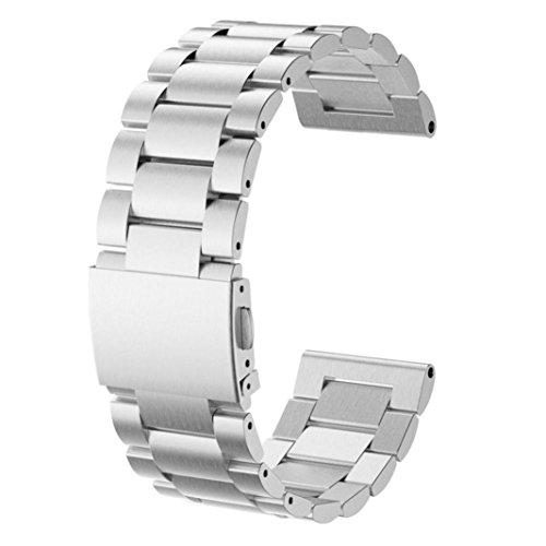 Correa de reloj OverDose correa de la correa de la pulsera del reloj del acero inoxidable para Garmin Fenix 5X GPS Watch