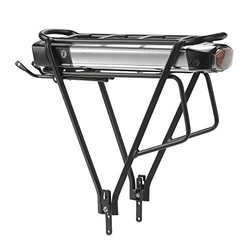Season E-Bike Batteria Portapacchi 36V 13Ah 481Wh con Caricabatterie 2A, Adatto per Bicicletta 26'-28' V Brake, Adatto per Motori 36V 250W/350W/500W, per NCM/Amburgo Monaco