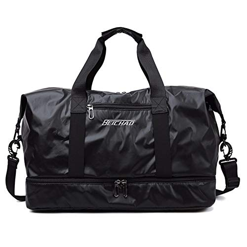 Travel Bag Large Capacity Men Hand Luggage Travel Duffle Bags Weekend Bags Women Multifunctional Travel Bags, Fitness Sports Bag (Color : Black)