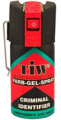 HOERNECKE Spray De Défense Tiw Farb-Gel 40 ML Version Clapet Ou Clip Ceinture Nouvelle Version (Version Clip Ceinture)