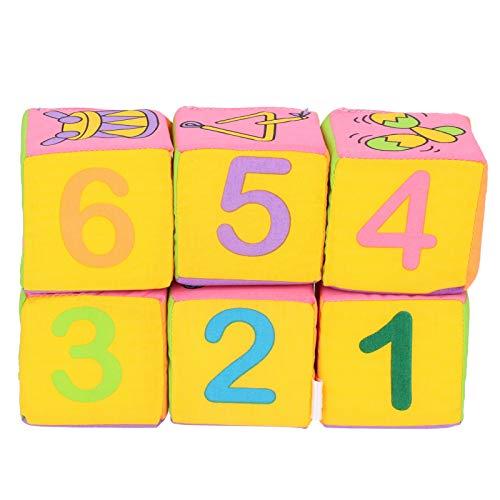 Bloques de construcción de Tela para bebé, Bloques de construcción de Tela Suave para bebé, Colores Brillantes para Actividades Generales, Playa, baño,(Color Box, Fabric Building Blocks)