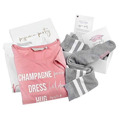 shopandmarry Junggesellinnenabschied Weddingbox für Zwei   Pyjama Party   Geschenkbox für Braut und Brautjungfer   Ideal für den JGA und die Hochzeit