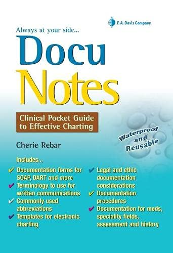 DocuNotes: Clinical Pocket Guide to Effective Charting