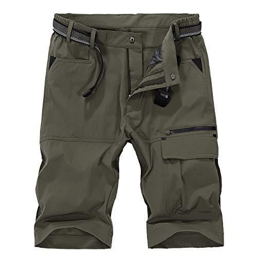 LHHMZ Pantaloncini da Uomo Pantaloncini da Trekking Traspiranti all'aperto Leggero Asciutto rapido Pantaloncini Cargo Sportivi Casual Pantaloni da Passeggio Bermuda Cargo Short