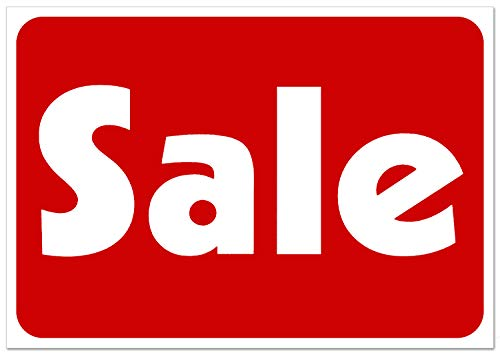 Sale Retail Business Shopping Message Sign - Durable Waterproof Plastic 7�x 11� Price Signs - Boost Sales with Bright Display Signs - Promote Business at Retail Stores