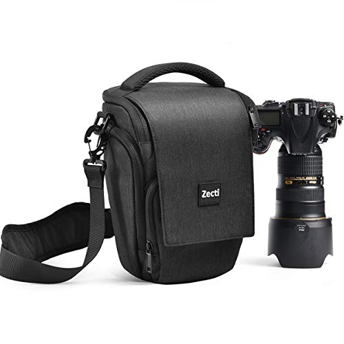 Professioneller Kameratasche, Zecti Fototasche Schlaufen Rucksack für Nikon Canon Sony und DSLR Kameras und Objektiv, Weiteres Zubehör, wasserdichte für Nikon Canon Sony Fuji Olympus (Schwarz)