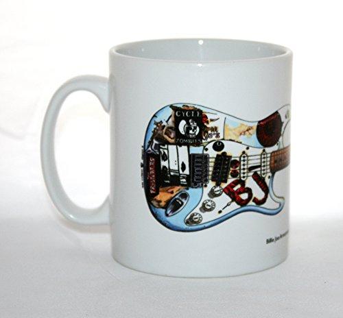 George Morgan Illustration Taza de Guitarra Fernandes Stratocaster 'Blue' de Billie-Joe Armstrong