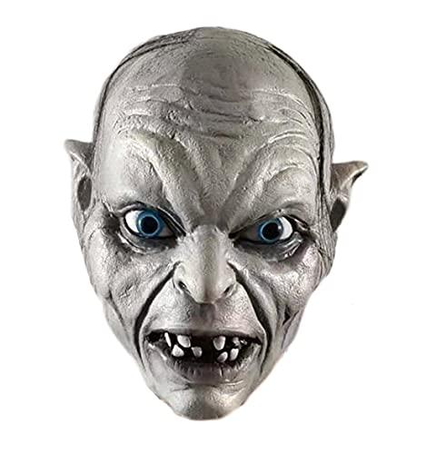 Gollum Masque Le Seigneur des Anneaux pour Halloween Costume Accessoires de fête Clown Evil Clown Effrayant Mascarade Déguisement Masques d'horreur