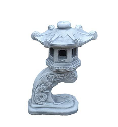 gartendekoparadies.de Wunderschöne Massive japanische Steinlaterne Rankei aus Steinguss frostfest