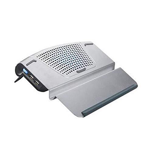 Refrigerador for computadoras portátiles, radiador de placa base de ventilador de escape de 14 pulgadas, placa de soporte de aluminio Refrigeración por aire Enfriamiento Estables silenciosos / Se pued
