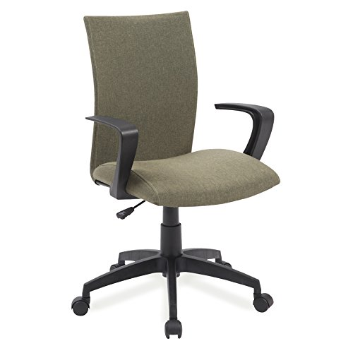 Leick Linen Apostrophe Office Chair with Black Caster Base, Sage Green