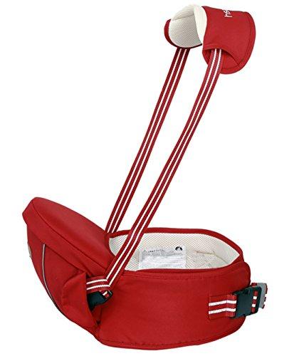 Gabesy - Portabebé ventral multiposiciones, ligero y transpirable con asiento y tirantes ajustables. Muy cómodo para los bebés de 4a 36meses rojo rojo Talla:4-36 mois