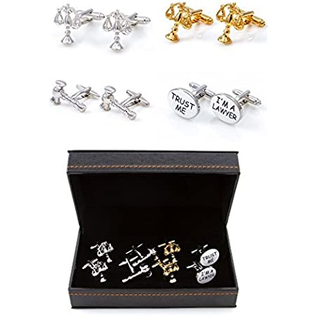 Scales of Justice Attorney Judge Lawyer Cufflinks with Presentation Box