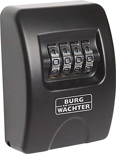 Burg-Wächter Schlüsseltresor mit 4-stelligem Zahelncode für außen und innen, Sicher, Wandmontage, Key Safe 10 SB, Schwarz