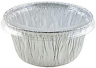 Handi-Foil of America 4 oz. Aluminum Foil Cup w/Clear Plastic Lid 50PK -Utility/Cupcake/Ramekin/Muffin (pack of 50) (Original Version)