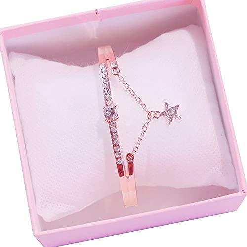 Ocio cuarzo reloj pulsera estrella pulsera mujer moda joyería señoras todo partido pulsera moda moda simple estrella pulsera