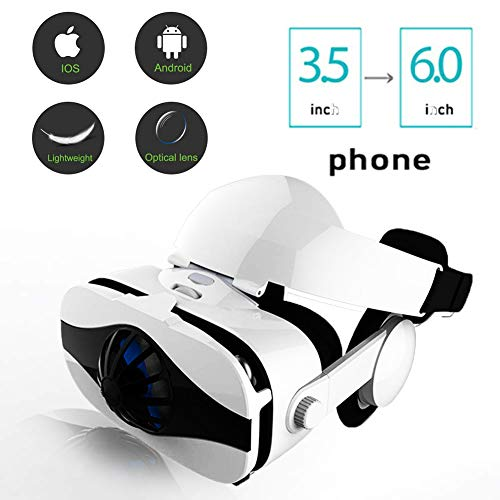 VR Headset, Virtual Reality Headset, 3D Glasses, VR Glasses, VR Goggles 3D VR Movies Video Games,Compatible for Iphone Android Phone Huawei 4.0-6.0 Inches