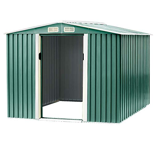 Patiomore 6×8 FT Outdoor Storage Shed Tool House...