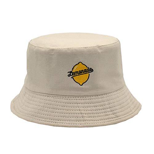 Bucket-Cap Men and Women Spoof Fishing Cap Marca Ocio out Frío frío Pescador Sombrero Hombrero Hip Hop Casual Panamá Sombrero de Paja MENGN (Color : White1, Size : 56-58cm)