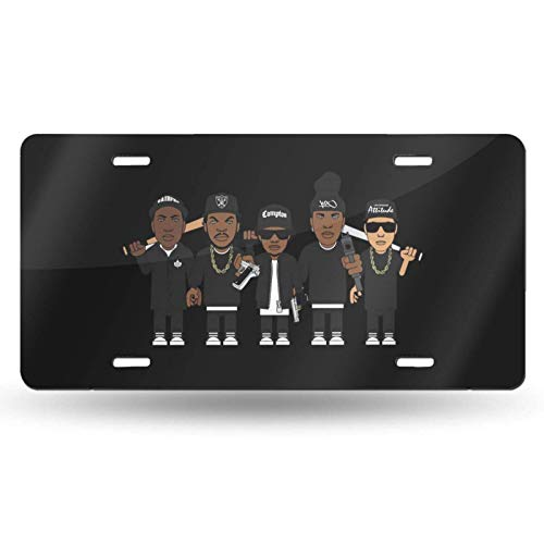 maichengxuan NWA Easyto Install - Placa de matrícula de metal de aluminio, 6 x 30,5 cm (4 agujeros)