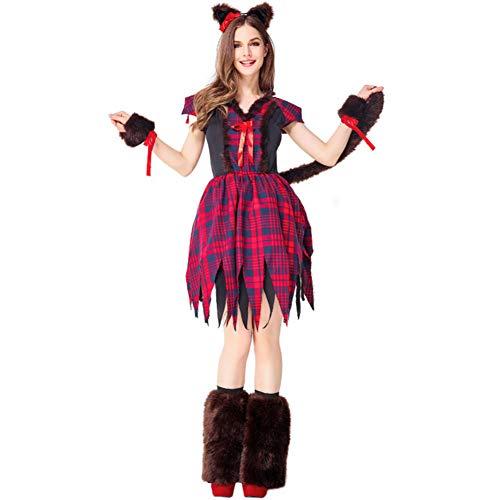 GBYAY Cosplay Uniforme de Cuento de Hadas Vestido de Traje Conjunto Completo para Mujeres Carnaval de Halloween Disfraz de Navidad