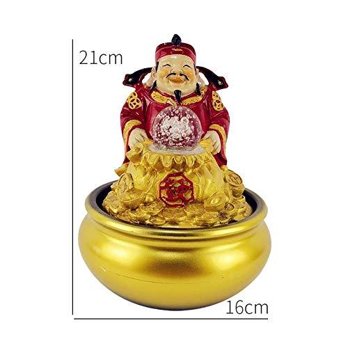 Company Receptie Wealth Decoration goudstaaf Gouden Munten Feng Shui Ornamenten Thuis Indoor Water Fountain Luchtbevochtiger,D