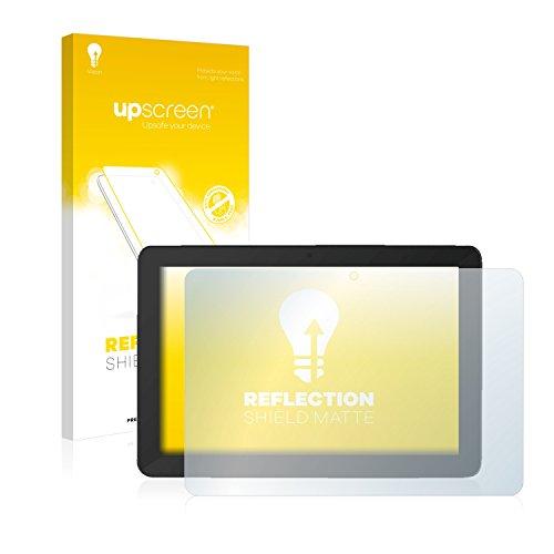 upscreen Entspiegelungs-Schutzfolie kompatibel mit TrekStor SurfTab Breeze 10.1 Quad Plus – Anti-Reflex Bildschirmschutz-Folie Matt