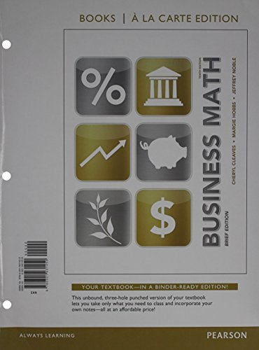 Business Math Brief, Books a la Carte Edition Plus MyLab Math -- Access Card Package (10th Edition)